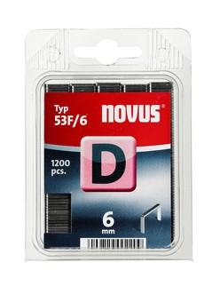 Novus tűzőkapcsok, lapos D 53F 6 mm 1200 db