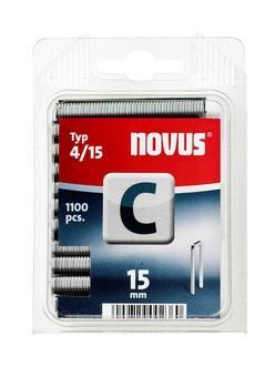 Novus tűzőkapcsok, keskeny C 4 15 mm 1100 db