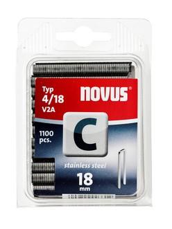 Novus tűzőkapcsok, keskeny C 4 V2A nemesacél 18 mm 1100 db