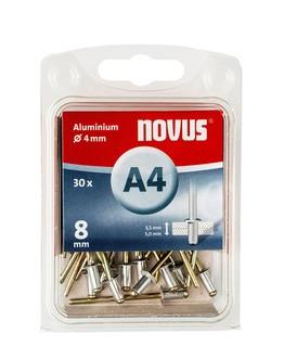 Novus popszegecsek alumínium A4  8 mm 3.5-5.0 30 db