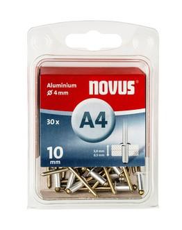 Novus popszegecsek alumínium A4  10 mm 5.0-6.5 30 db