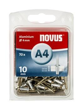 Novus popszegecsek alumínium A4  10 mm 5.0-6.5 70 db