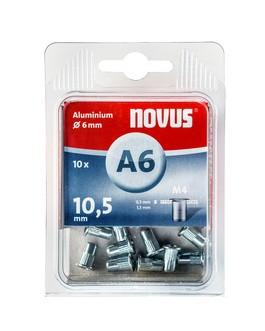 Novus popszegecs-anya M4 A6 x 10.5 alu 0.5-1.5 10DB