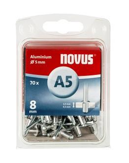 Novus popszegecsek alumínium A5 8 mm 2.5-4.5 70 db