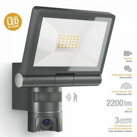 Steinel szenzorreflektor CAM1, kamerás, kültéri, antracit