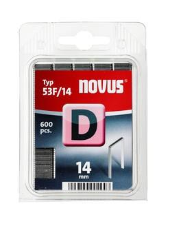 Novus tűzőkapcsok, lapos D 53 F 14 mm 600 db
