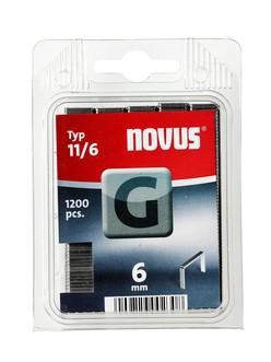 Novus tűzőkapcsok, lapos G 11 6 mm 1200 db
