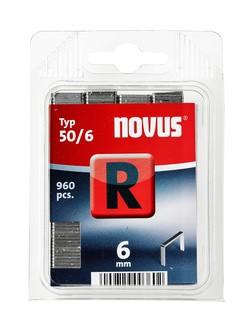 Novus tűzőkapcsok, lapos R 50 6 mm 960 db