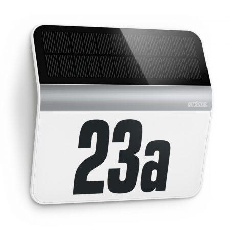 Steinel szenzorlámpa XSolar LH-N napelemes LED házszámmegvilágító nemesacél