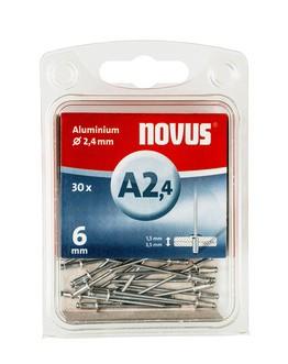 Novus popszegecsek alumínium A2.4 6 mm 1.5-3.5 30 db