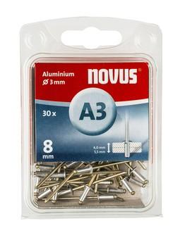 Novus popszegecsek alumínium A3 8 mm 8 mm 4.0-5.5 30 db