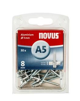 Novus popszegecsek alumínium A5 8 mm 2.5-4.5 30 db