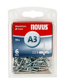 Novus popszegecsek alumínium A3 6 mm 2.5-3.5 70 db