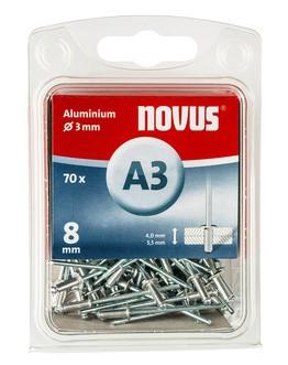 Novus popszegecsek alumínium A3 8 mm 8 mm 4.0-5.5 70 db