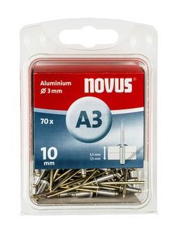 Novus popszegecsek alumínium A3 10 mm 5.0-7.5 70 db