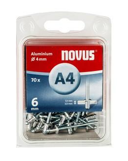 Novus popszegecsek alumínium A4 6 mm 1.5-3.0 70 db