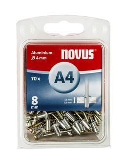 Novus popszegecsek alumínium A4  8 mm 3.5-5.0 70 db