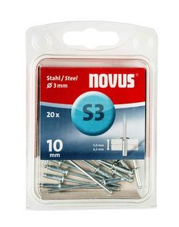Novus popszegecsek acél S3 10 mm 5.0-6.5 20 db