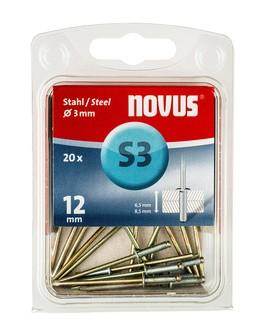 Novus popszegecsek acél S3 12 mm 6.5-8.5 20 db