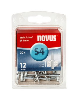 Novus popszegecsek acél S4 12 mm 6.5-8.5 20 db
