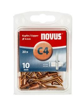 Novus popszegecsek réz C4 10 mm 4.5-6.0 20 db