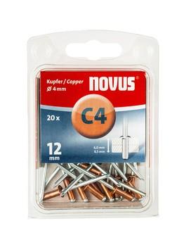 Novus popszegecsek réz C4 12 mm 6.0-8.5 20 db