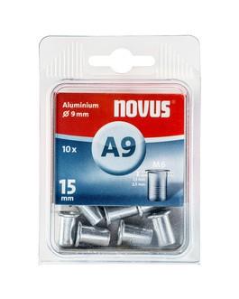 Novus popszegecs-anya M6 A9 x 15.0 alu 1.5-2.5 10DB