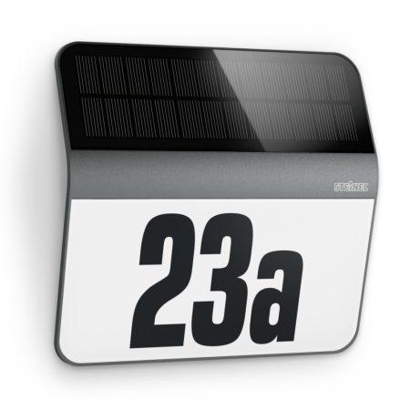 Steinel szenzorlámpa XSolar LH-N napelemes LED házszám-megvilágító antracit