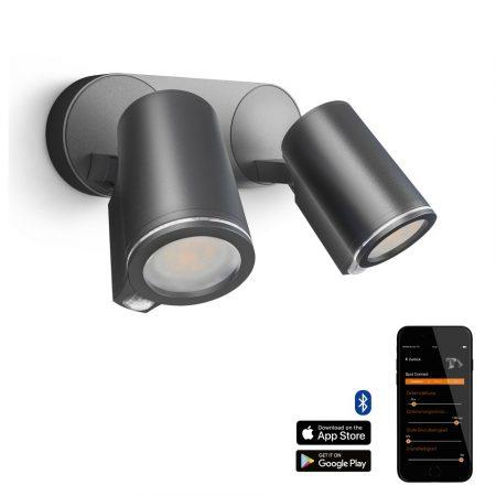Steinel szenzorlámpa Spot Duo S Connect, kültéri, antracit