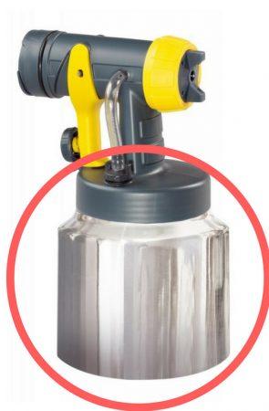WAGNER Festéktartály fedéllel alumínium 800ml (HVLP készülékek)